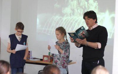 Nyulász Péter látogatása iskolánkban
