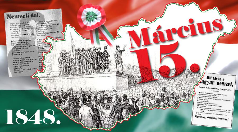 Március 15-i megemlékezés